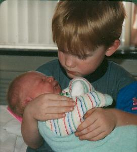 Erica and her big brother Jared. May 2, 1992
