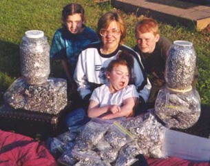 Erica aluminum recycling project collected 1,000's of pull tabs!