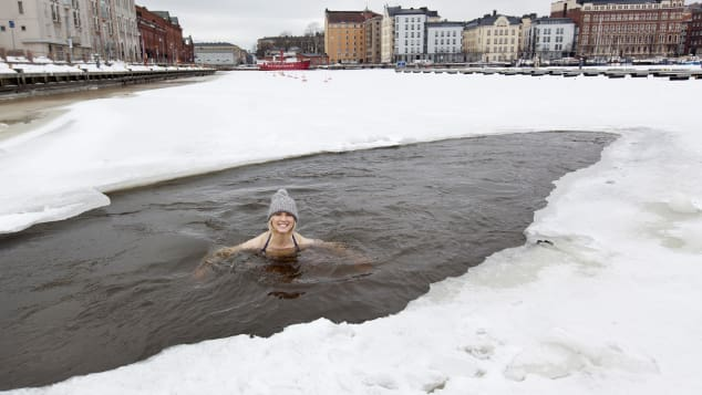 Pantzar's fascination with ice swimming led her to uncover research that showed why the practice made people feel energetic and alive. Katja Pantzar